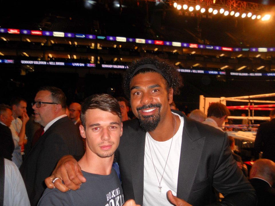 Anthony du ring ajaccien et le boxeur David Haye