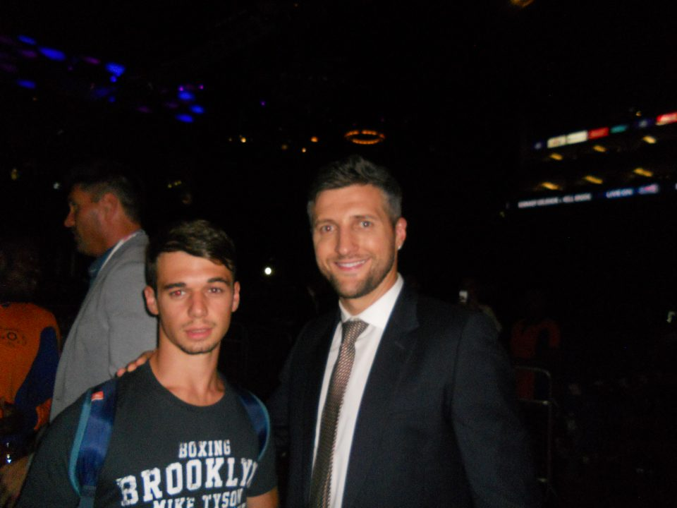 anthony du ring ajaccien et le boxeur Carl Froch